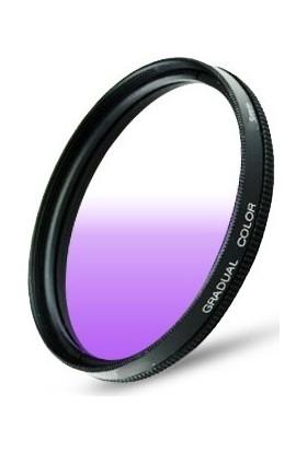 Dhd Canon 18-55mm Lens için 58mm Kademeli Degrade Purple Mor Gündoğumu Efekt Filtre