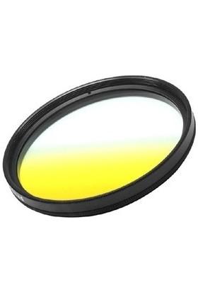 Dhd Canon 18-55mm Lens için 58mm Kademeli Degrade Yellow Sarı Efekt Filtre