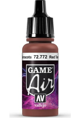 Vallejo 72772 Game Air Red Terracotta Maket Boyası
