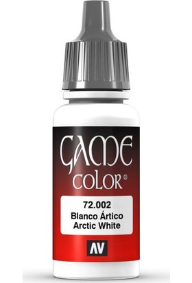 Vallejo 72002 Game Color Arctic White Maket Boyası