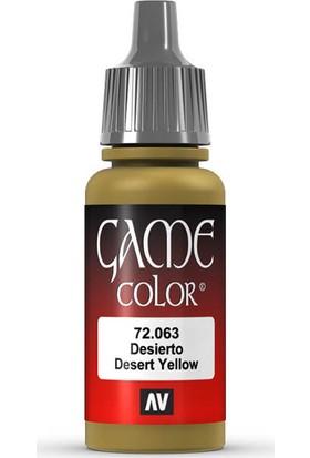 Vallejo 72063 Game Color Desert Yellow Maket Boyası