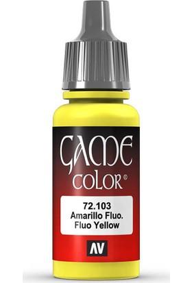 Vallejo 72103 Game Color Fluorescent Yellow Maket Boyası