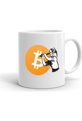 Ertesi Gün KapındaBitcoin Crypto Trader Kupa Bardak