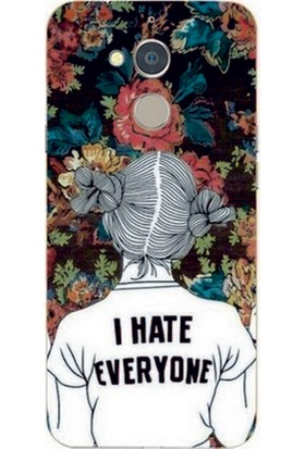GoGo General Mobile Discovery GM8 I Hate Everyone Baskılı Silikon Kılıf