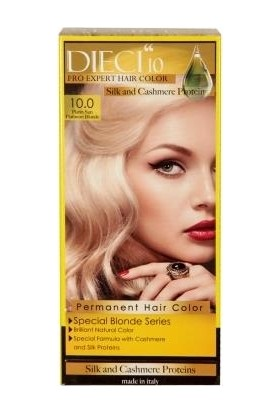 Dieci 10 Eko Kit Saç Boyası 10,0 Platin Sarı