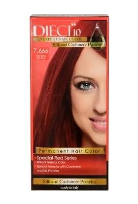 Dieci 10 Eko Kit Saç Boyası 7,666 Ateş Kızılı