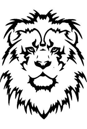 New Jargon Aslan Başı Sticker Yapıştırma Stiker Yapıştırma Siyah