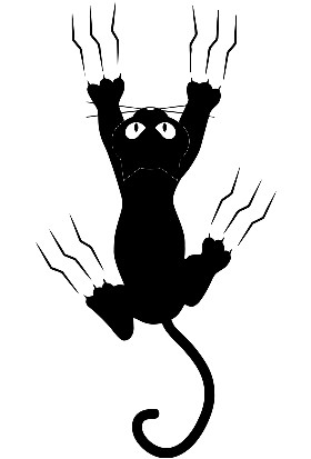 New Jargon Pençe İzi Çıkaran Kedi Sticker Yapıştırma Siyah