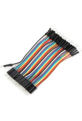 Arduino Jumper Kablo 40 Pin 10Cm Erkek ‐ Erkek Dupont Kablo