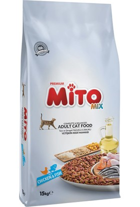 Mito Mix Tavuklu ve Balıklı Kedi Maması 15 Kg