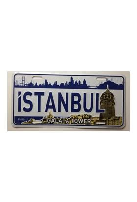 Sibiro Dekoratif Plaka İstanbul Galata Kulesi