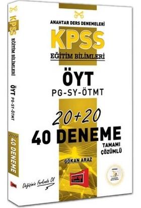 Yargı Yayınevi KPSS Eğitim Bilimleri Öyt-Pg-Sy-Ötmt Tamamı Çözümlü 40 Deneme - Gökan Araz
