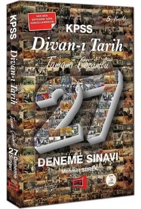 Yargı Yayınevi KPSS Divan-I Tarih Tamamı Çözümlü 27 Deneme Sınavı 5. Baskı - Mehmet Sürek