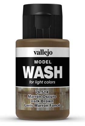 Vallejo 76514 Model Wash Dark Brown 35 Ml
