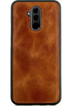 Coverzone Huawei Mate 20 Lite Kılıf Magnetik Özellikli Deri Kahverengi + Magnetik Araç İçi Tutucu + Temperli Ekran Koruma