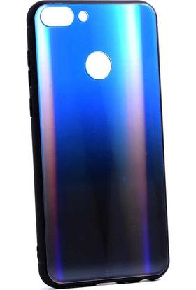 Coverzone Huawei P Smart Kılıf Gravity Cam Kılıf Mavi