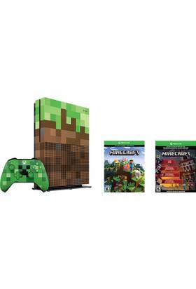 Microsoft Xbox One S 1TB Oyun Konsolu + Minecraft Limited Edition Bundle