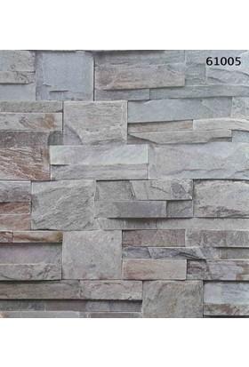 Halley Natural Design 61005 Taş Desenli Vinil Duvar Kağıdı