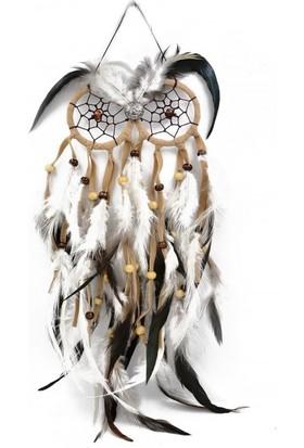 Mantr Baykuş Şeklinde Tüylü Kahverengi Rüya Kapanı