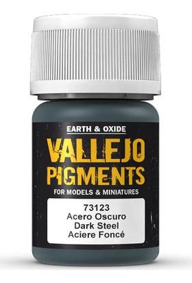 Vallejo 73123 Pigments Dark Steel 35 Ml