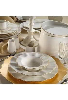 Kütahya Porselen Milenda 83 Parça 12 Kişilik Yemek Takımı Krem/Mat File