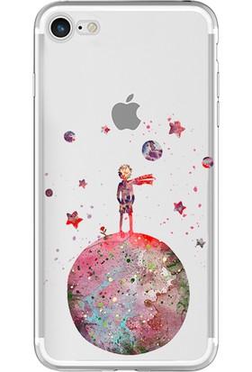 Caseup Apple iPhone 8 Kılıf Küçük Prens Desenli Silikon Kırmızı + Nano Cam