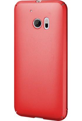 Caseup HTC 10 Kılıf Rubber Kırmızı + Nano Cam