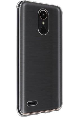 Caseup LG Stylus 3 Kılıf İnce Şeffaf Silikon Beyaz + Nano Cam