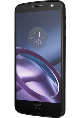 Caseup Motorola Moto Z Kılıf Rubber Siyah + Nano Cam