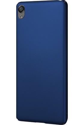 Caseup Sony Xperia X Kılıf Rubber Lacivert + Nano Cam