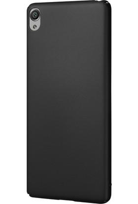 Caseup Sony Xperia Xa Kılıf Rubber Siyah + Nano Cam