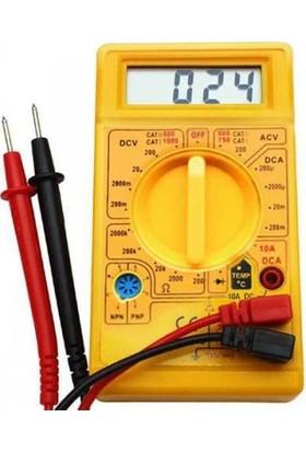 Technomax Dijital Avometre Multimetre Ölçü Aleti Akım Volt Amper Ölçer Avometre Akım Elektronik Ölçü Aleti
