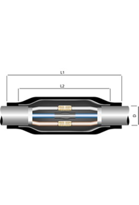 Tamer Isı Büzüşmeli Ek Muf (4X4-4X6)