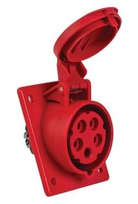 Mete Enerji 5X16A Makine Prizi Eğik Gövdeli Cee Norm 3P+N+E