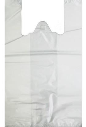 Orjin Beyaz Hışır Atlet Market Poşeti 2 kg Büyük Boy 30x60 cm