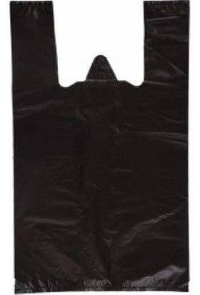 Orjin Siyah Hışır Atlet Market Poşeti 2 kg Büyük Boy 30x60 cm