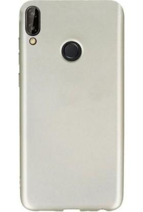 Teleplus Samsung Galaxy M30 Kılıf Lüks Silikon Gold + Nano Ekran Koruyucu