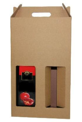 Unipak Şişe Kutusu 2'Li 10,3×20,3×25,5 (25 Adet)