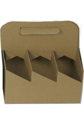 Unipak Şişe Kutusu 6 Bölmeli 21,6×14,8×16 (25 Adet)