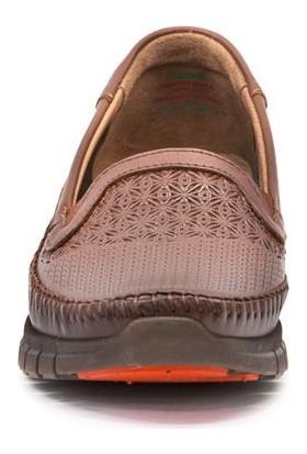 Forelli 29413 Kadın Deri Taba Anatomik Ayakkabı