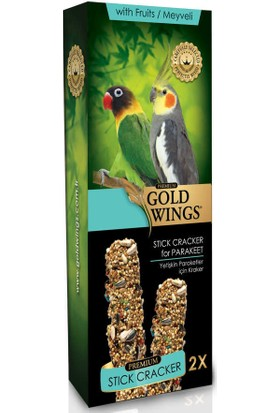 Gold Wings Premium 2'li Meyveli Paraket Krakeri (Kutulu)