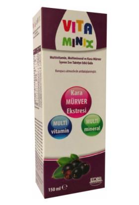 Vitamınix Multivitamin,Multimineral ve Kara Mürver İçeren Sıvı Takviye Gıda 150 ml