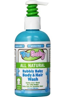 Trukid Trubaby Bubbly Hair & Body Wash - Bebek İçin Tamamen Doğal Organik Saç ve Vücut Şampuanı 236 ml
