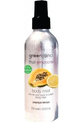 Greenland Alkolsüz Parfüm Vücut Spreyi Body Mist Papaya - Limon 200Ml