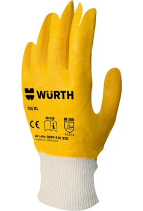 Würth Sarı Nitril Eldiven 9/L:
