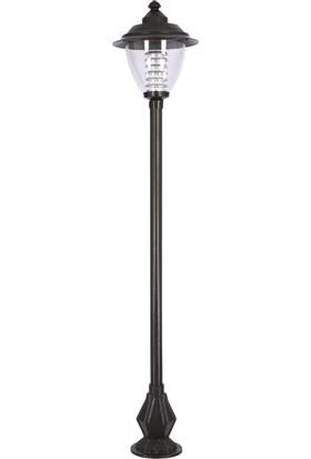 AVONNI BDR-68015-BSY Siyah Elektrostatik Toz Boyalı Dış Mekan Aydınlatma E27 Aluminyum Döküm Dip Polikarbon Cam 50cm