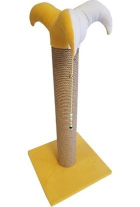 Bedspet Şapkalı Kedi Tırmalaması Sarı 70Cm