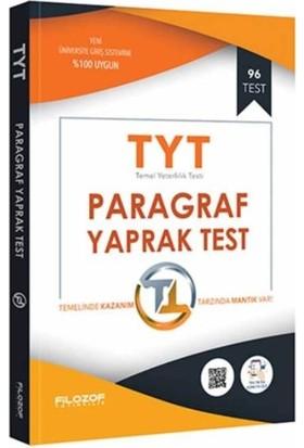 Filozof Tyt Paragraf Yaprak Test-Yeni