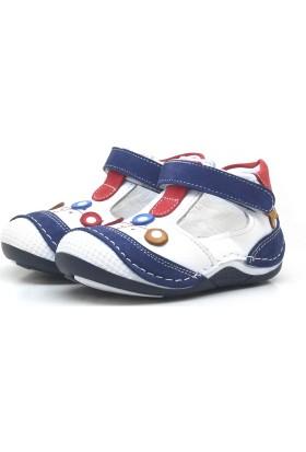 0f92929afcbec ... Şeker Bebe Lacivert Hakiki Deri Ortopedik Cırtlı Erkek Bebek Ayakkabı-Patik  ...