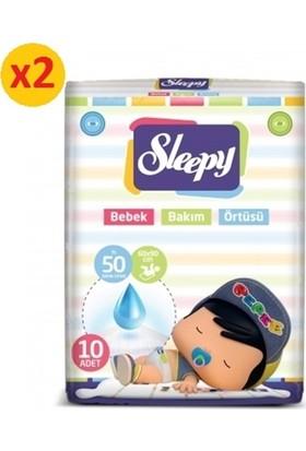 Sleepy Bebek Bakım Örtüsü 10'lu 60x90 cm 2 Paket